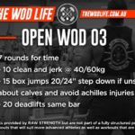 RAW STRENGTH & CONDITIONING – OPEN WOD 03