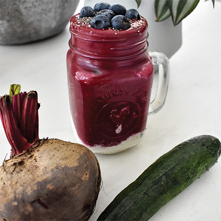 fruit and vegetable smoothie