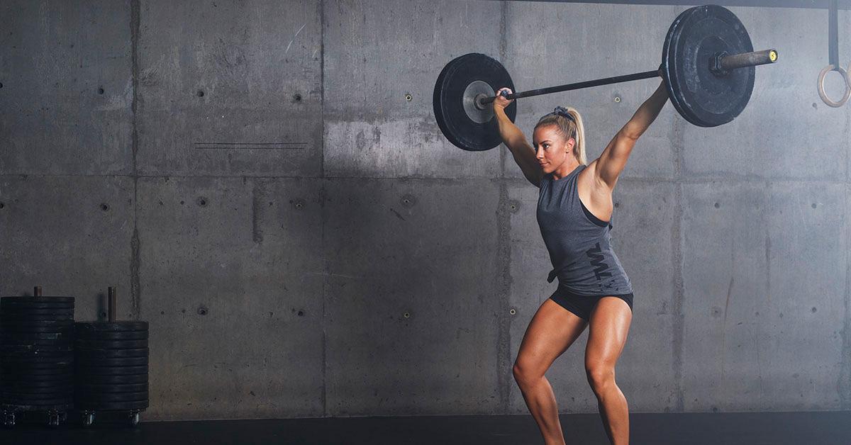 athlete doing overhead squat