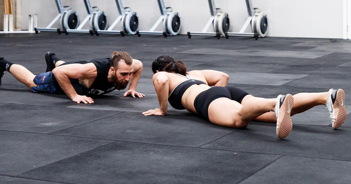 athletes doing push-ups
