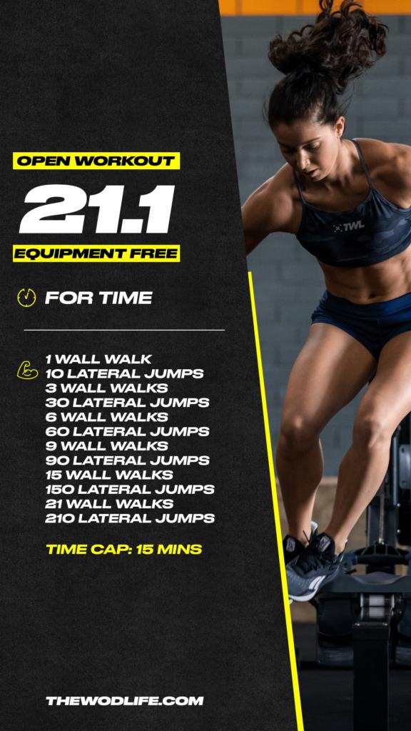 Open workout 21.1 no equipment