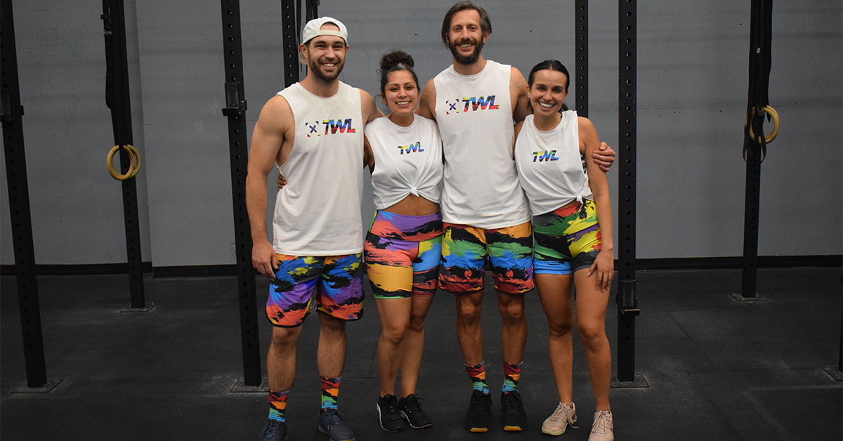 depot fitness athletes in TWL PRIDE limited edition apparel