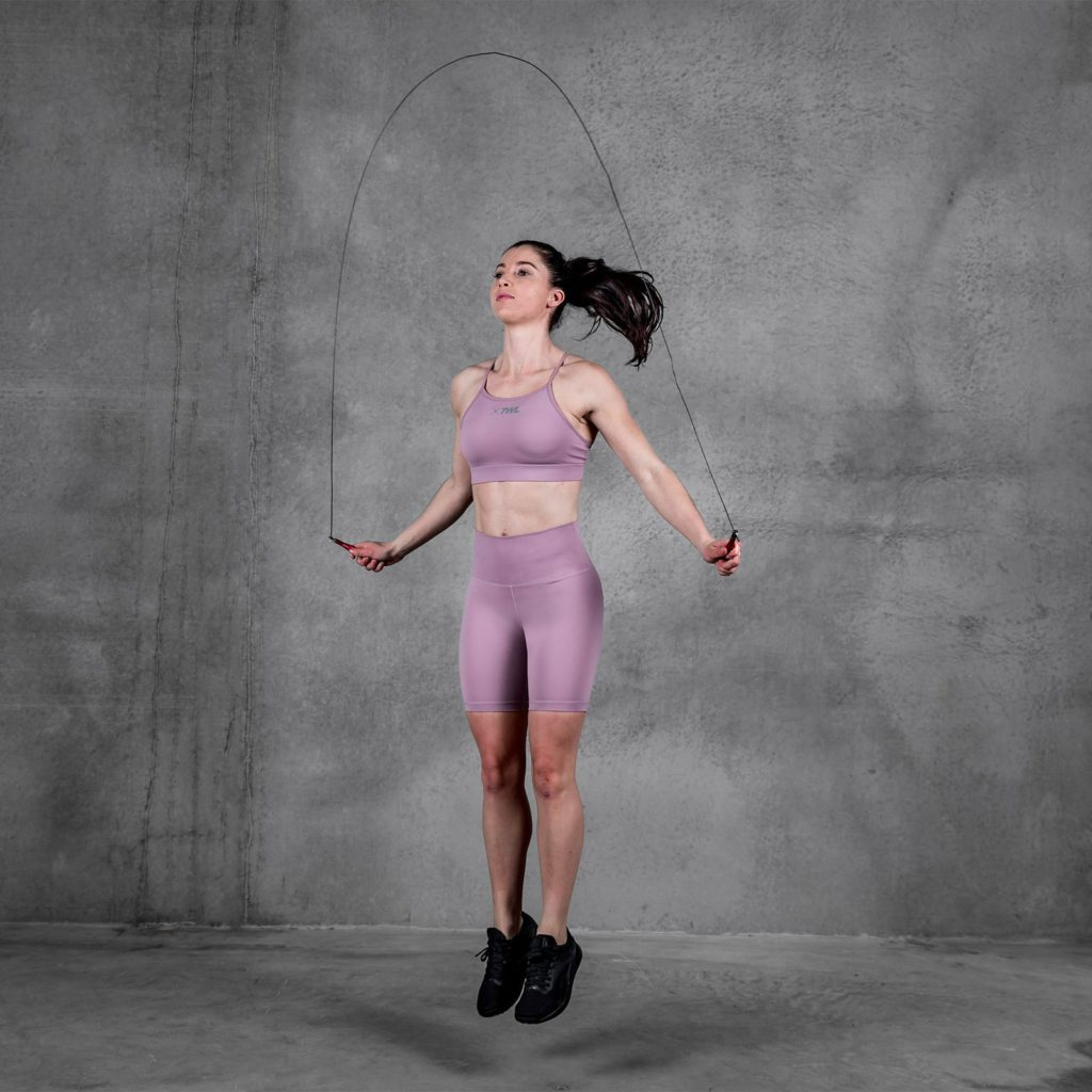 high-waisted long balance shorts