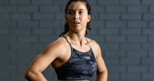 female athlete with good posture