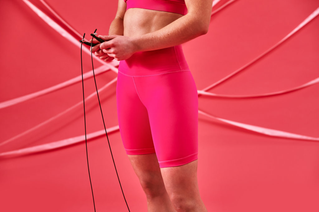 extra long shorts pink limited edition by The WOD Life