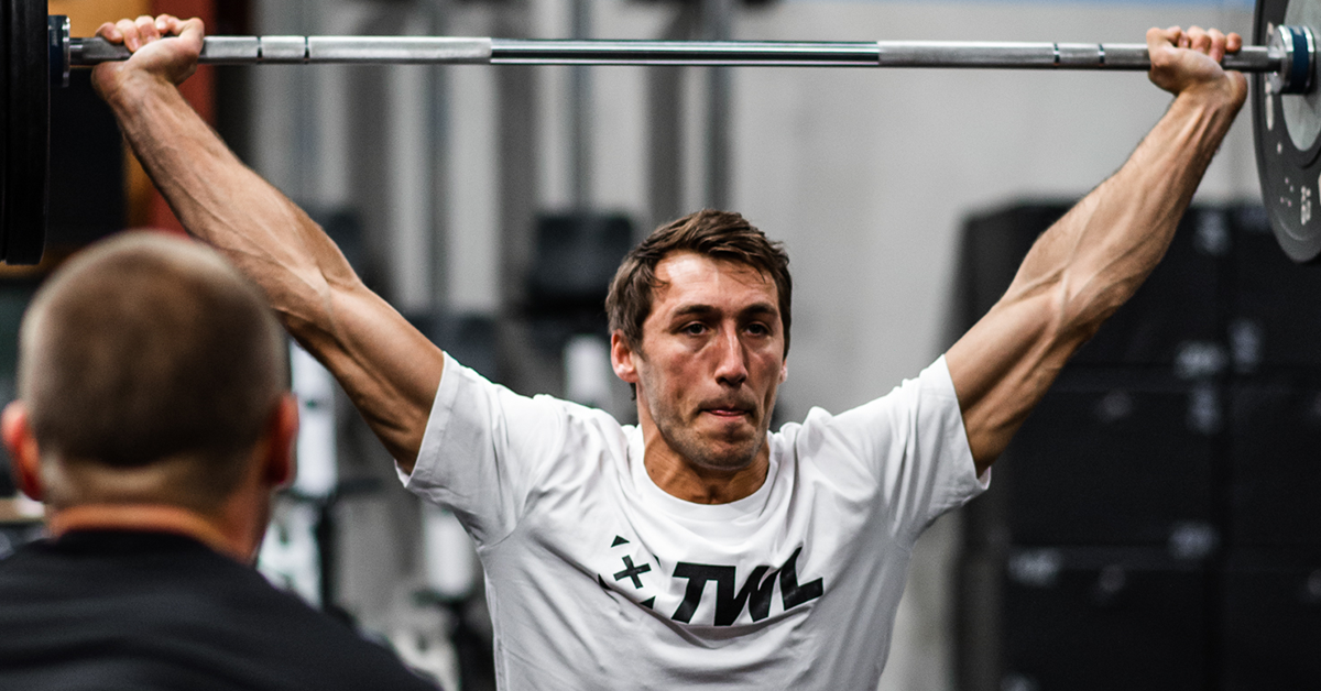 male athlete olympic weightlifting