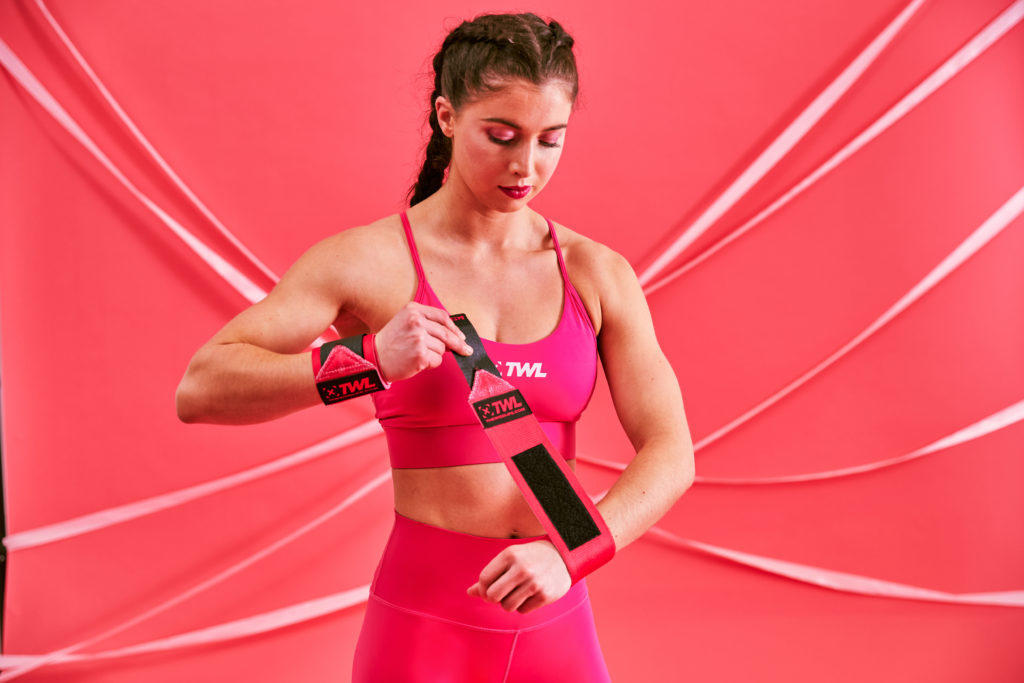 Pink limited edition sports bra The WOD Life