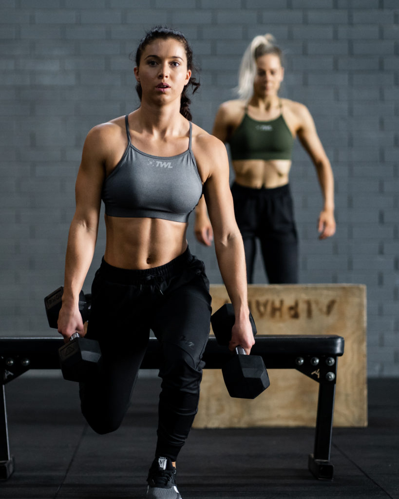 women busting fitness myths at the gym training